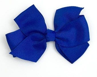 Boutique Hair Bows- Bright Royal Blue- 3 inch Hair Bow, Boutique Bow, Babies Toddler Girls Women