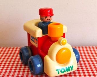 vintage 1990s toy train - PUSH'N GO 1991 Tomy Toy co.