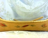Vintage handmade Birch Bark Canoe