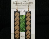 Ohe Kāpala Maka Ihe (Spear) Design Bamboo Earrings