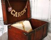 Fire fighter wedding-wedding trunk-wedding card holder-wedding card holder-wood wedding trunk-Fireman