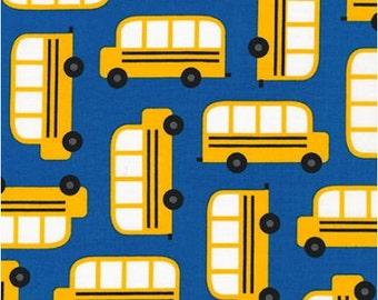 School Buses on Blue from Robert Kaufman's Back to School 2 by Ann Kelle