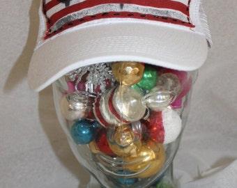 "Upcycled Art Trucker Hat ""CAPitalism"" by Jami Joelle Nielsen"