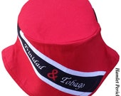 Trinidad and Tobago Flag Bucket Hat | Embroidered Hat | Country Flag Hat | Trinidad and Tobago Flag | Red and Black Hat by Hamlet Pericles
