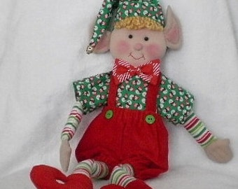 Christmas Elf Red and Green Holiday Decoration