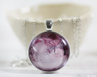 Pink Necklace - Jewelry - Designer Jewelry - Pink Jewelry - Red Necklace - Art jewelry (0-45N)