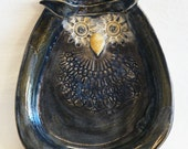Ceramic wise little owl Dish OL3
