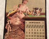1/2 Price Sale Was 99.95 now 49.95 Antique Victorian Calendar 1883 All Pages Intact Detroit Michigan phoenix Insurance Hartford Connecticut