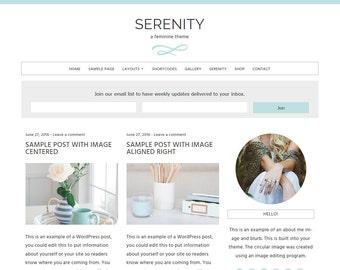 Serenity: Feminine WordPress Theme Built for Beginner and Intermediate Bloggers