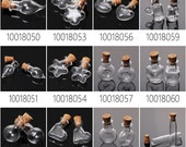 10PCS tiny glass bottles small glass bottles empty small bottles wholesale, tiny bottles with corks 100180