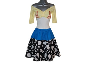 Adult Cowgirl Cow Girl Dress Costume (UK 10) (US 6) (EUR 38) Ladies Womens Jessie Cosplay