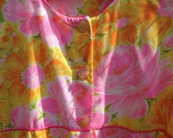 Vintage Pink House Dress