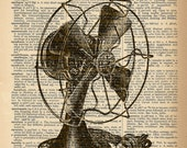 Dictionary Art Print - Vintage Fan - Upcycled Vintage Dictionary Page Poster Print - Size 8x10