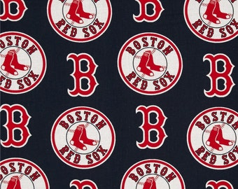 MLB Boston Red Sox V1 100%Cotton Fabric - Navy by the yard