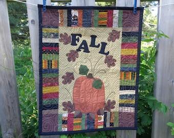 Fall Quilt,  Pumpkin Wall Quilt, Harvest Quilt 0605-01