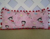 Betty Boop Pillow in Pink and Red / Character Pillow / Novelty Pillow / Accent Pillow