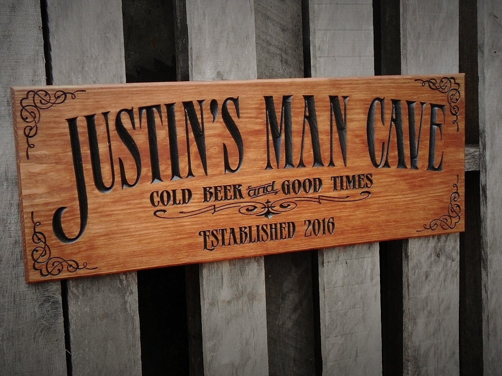 Man Cave Signs Personalised : Man cave bar sign personalized pub business signage