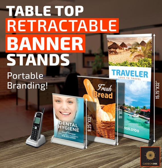 Tabletop Retractable Banner Roll Up Banner