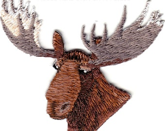 moose had iron on applique