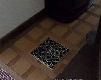 Edwardian Heat Grate in 1:12 Scale for Dollhouse Miniature Roombox