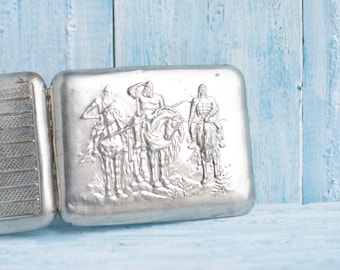 Christmas 15 % Gift for Men for Him - Vintage Cigarette Case - Antique Rarity
