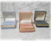 Velvet Gold Trim Ring Presentation/Storage Box