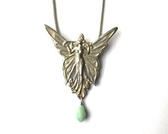 Art Nouveau Fairy Necklace