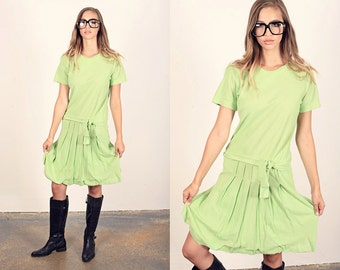 Vintage 60s Mod Dress Mint Green Mini