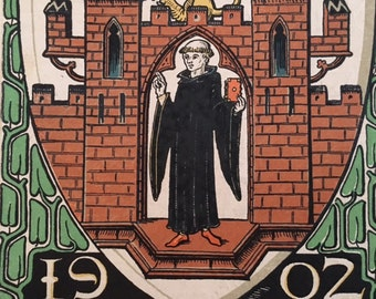 Munich Calendar 1902 Otto Hupp Heraldic Crest Coat of Arms