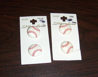 4 Baseball Shank size 34 (7/8) Streamline  Buttons