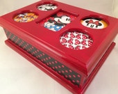 Red Minnie Mouse Upcycled Jewelry Box