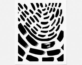 Scandinavian Art Print - Minimalist Modern Wall Art - Black and White Abstract Artwork - Vertical Art Print - 5x7, 8x10, 11x14 Graphic Art