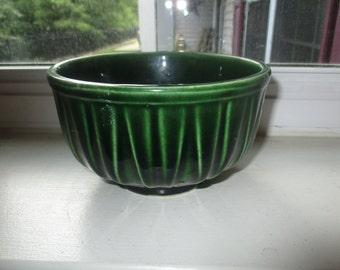 Vintage McCoy Green Pottery Planter - No. 518