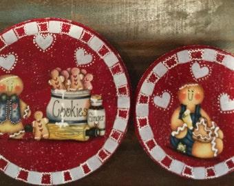 Gingerbread Burner Stove Covers..Gingerbread Lover..Ginger Kitchen...Country Ginger..Ginger Decor..Kitchen Decor..Housewarming Gift..