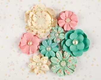 Prima Marketing Heaven Sent Flower Embellishement  Style Lidia New Release In Stock Ready To Ship