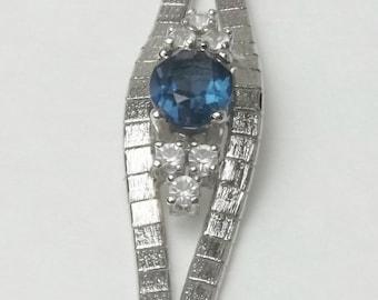 Sapphire Blue Crystal Rhodium Plate Vintage Textured Costume Jewelry Bracelet on Etsy
