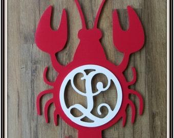 Lobster Door Hanger With Letter