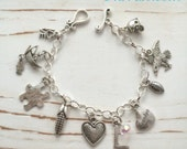 Little Girl/CHILD, PERSONALIZED Charm Bracelet (Just Charms), FREE Shipping by Okrrah
