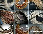 "Feather Hair Extensions Medium Length 7""-9"" ( 23cm - 31cm) Premium Grade Pick Your Colors"