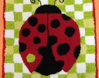 Fly Away Home Rug Hooking Pattern/ Ladybug