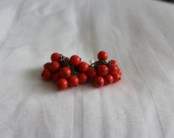 Vintage Orange Cha Cha Earrings Clip ons