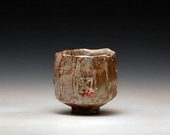 "Handmade Stoneware Teabowl ""Cross Freeze"""