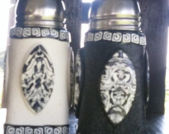 Black & White Abstract Salt and Pepper Shakers