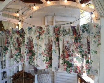 English Garden Valances by Croscill set of 2 Floral