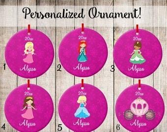 Personalized Ornament Kids Princess Christmas Ornament