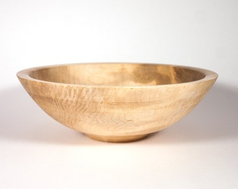 Curly Maple Wooden Salad Bowl, 12 x 4 Inch Salad Bowl, Fruit Bowl, Wedding Gift, Christmas Present, Anniversary present, Free Shipping