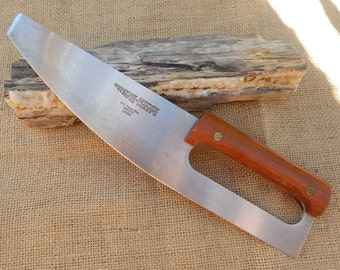 """Heritage Cuisine Knife  ~  11"""" Paring Utility Knife  ~  Heritage Cuisine Knife Rocker Action Bowed Cutting Edge Knife  ~  Made in USA"""