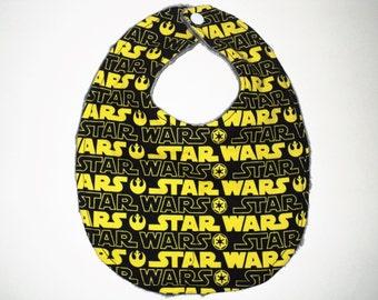 Star Wars Baby Bib, Newborn Bib Or Baby Toddler Bib, Geek Baby Gift, Nerd Baby, Baby Boy Bib, Baby Girl Bib, Minky Bib, Baby Shower Gift