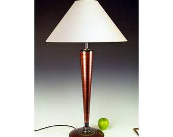 Table Lamp. Living Room Lamp. Desk lamp. Tall lamp. Accent Lamp. Metallic Copper. Atomic retro. Art Deco. Space age. 268