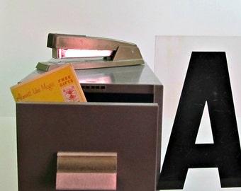 Vintage Industrial Card File Cabinet